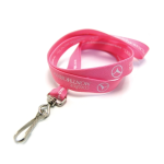 Breast Cancer Awareness Silkscreened Tubular Lanyard