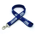 "3/4"" Silkscreened Tubular Lanyard w/ Deluxe Swivel Hook"